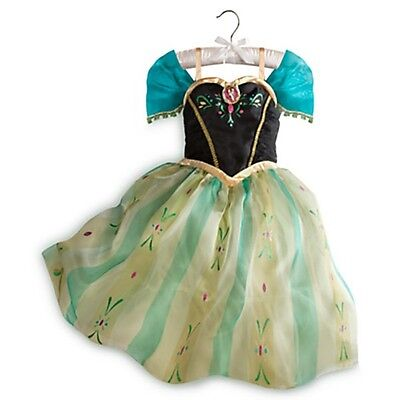 Authentic Disney Store ANNA CORONATION Costume Dress Cameo Large 9 10 Frozen