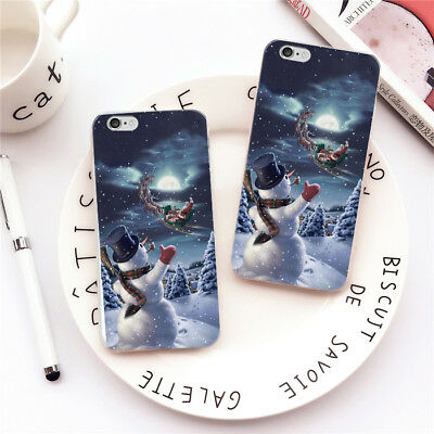 Christmas Rubber Slim Soft TPU Silicone Phone Case Cover For Huawei P10 iPhone 8