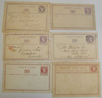 Queen Victoria Postal Stationery Postcard Selection Used / Unused 31 cards tones