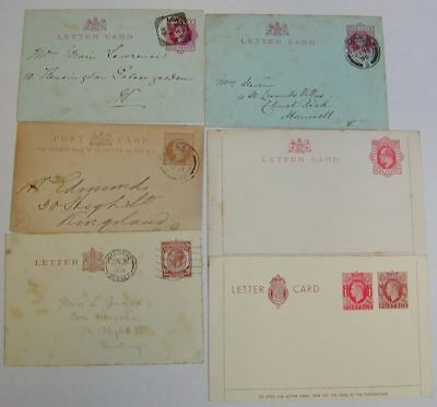QV-QEII Postal Stationery Letter Card Selection Used / Unused - 22 cards
