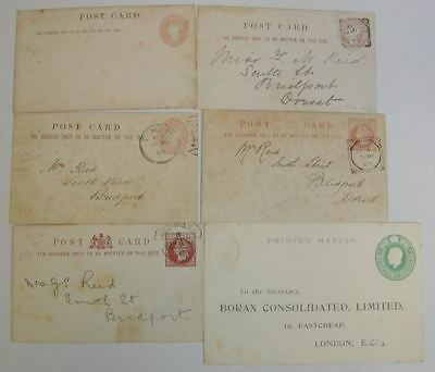 QV-QEII Postal Stationery Private Postcard Selection Used / Unused - 14 cards