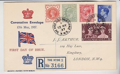 Gb Stamps 1937 Coronation Day Error 1 Day Early First Day Cover From Collection