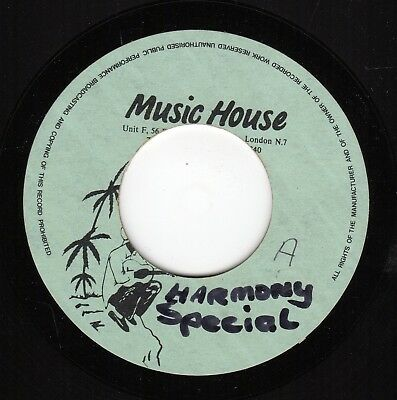 """ HARMONY SPECIAL. "" male vocal. MUSIC HOUSE 7in EARLY 90's  DUBPLATE."