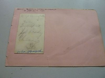 Ww2 1943 American Baseball Match Autographs - Loughton Essex 6.5 X 4 Inch Origin