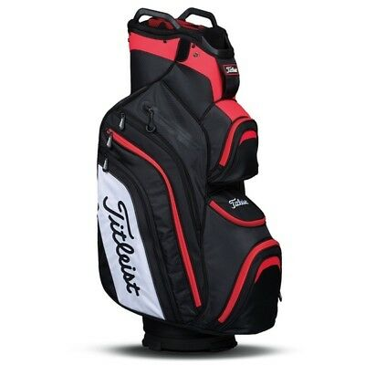 NEW 2017 Titleist Deluxe Golf Cart Bag Black Red White TB6CT6-061 14 Way Divider