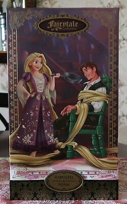 DISNEY DESIGNER FAIRYTALE COUPLE Rapunzel & Flynn Rider Limited Edition DOLL SET