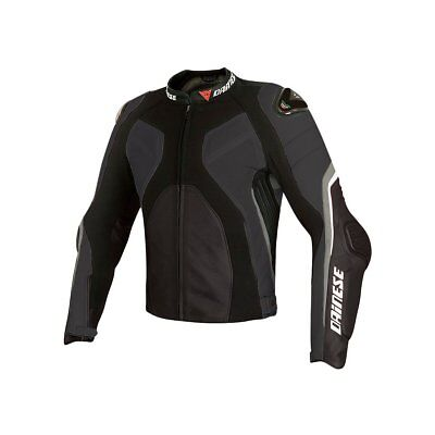 Dainese Super Rider Mens Perforated Leather Jacket Black/Black/Anthracite