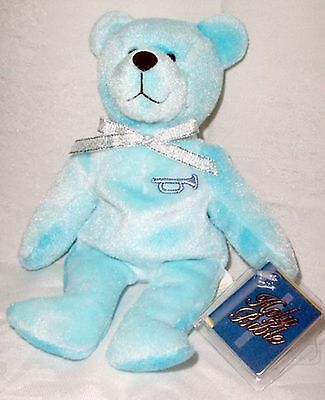 Holy Bears Blue Precious with Silver Trumpet  NWT
