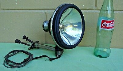 Antique 1920s S & M Lamp Company No. 70 Spot Driving Head light w/ Mount TESTED