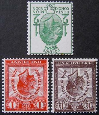 GV 1929 PUC ½d-1½d with inv. wmk, fine UNMOUNTED MINT. Cat £85