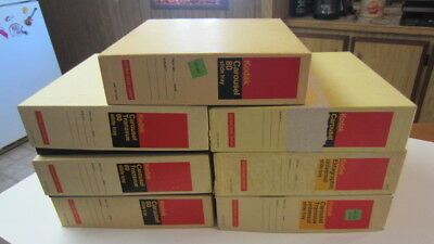 7) Vintage Kodak Carousel 80 Slide Trays in Boxes