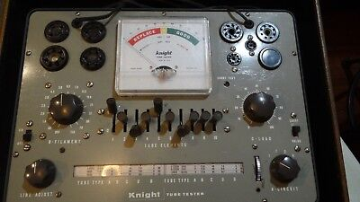KNIGHT KG 600 TUBE TESTER Very Good Condition with case Allied Radio