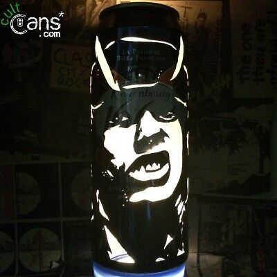 Angus Young AC/DC Beer Can Lantern! Pop Art Portrait Candle Lamp, Unique Gift