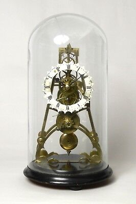 Good Quality Antique Georgian English Skeleton Clock With Dome, Duncan London