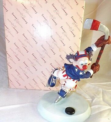 "Simson Jockey Jerk Hockey Clown Figurine 7"" New In Box"