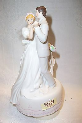 Vintage Schmid Music Box Love Story Wedding Couple First Dance Love Story New