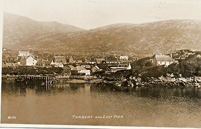 Tarbert and East Pier ,Harris;Unposted Photographic Postcard 1930's; See Scans