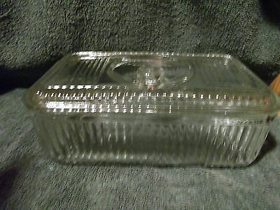 Vintage Glass Meat/cheese Keeper With Recess Knob Lid