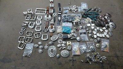 MISC. CONCHOS,BUCKLES,BEADS. TANDY LEATHER Vintage buckle sets
