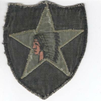 X781 Korean War Off Uniform US Army 2nd Infantry Division Theater Made Patch