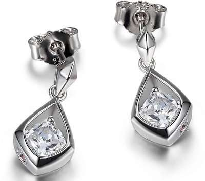 E0731 Sparkling CZ Post Earrings Sterling Silver ELLE Jewelry