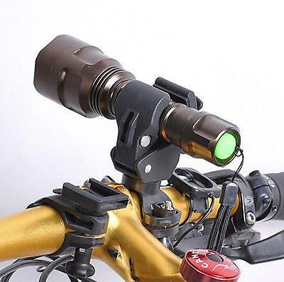 360 Degree Bicycle LED Flashlight Mount Holder For Bicycle Torch Bicycle Clip  E