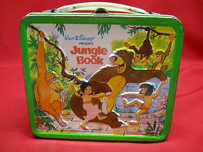 Vintage 1966 Aladdin Walt Disney Jungle Book Metal Lunch Box