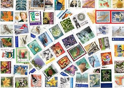 A Lovely Mix Of Mostly Recent Commemorative Stamps From Switzerland