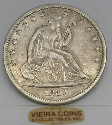 1840  Liberty Seated  Half Dollar  50 CENTS - Hard to Find-   #9926