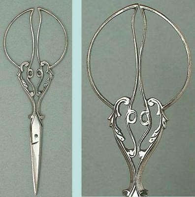 Fancy Antique Cut Steel Embroidery Scissors * French * Circa 1890s