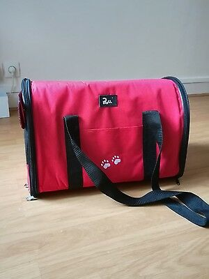 Sac Transport Valise Chat Chien Bag Rouge Rouge Rinpoul Taille L Dog Cat