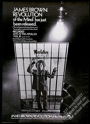 1971 James Brown photo Revolution of the Mind record release vintage trade ad