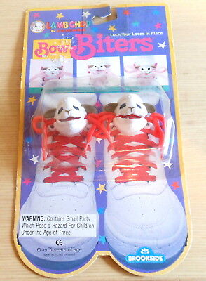 Shari Lewis Lamb Chop Figure Bow Biters Shoe lace holders 1993 Sealed on Card