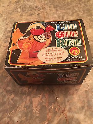 NOS Vintage Wind Up Rooster Toy Taiwan Chicken