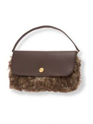 NWT JANIE AND JACK Highlands Darling Brown Faux Fur Purse 3 4 5 6 7 8 10
