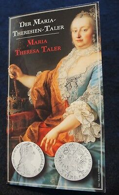 1780 Maria Theresia Thaler Restrike in UNC Condition 80% SILVER EXCELLENT!