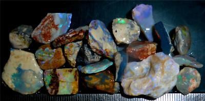 100 Cts #956 Opal Rough And Rough Rubs From Lightning Ridge Australia