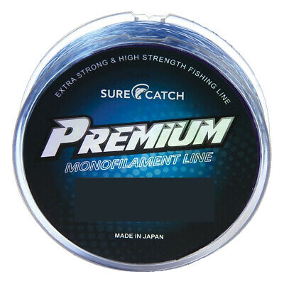 300m Spool of Surecatch Premium Monofilament Fishing Line - Blue Mono Line