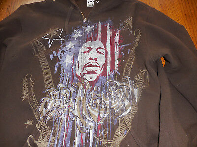 apx brown sweatshirt jimi hendrix Small