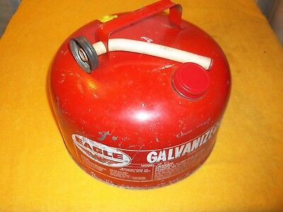 Vintage Eagle 2 1/4 Gallon Galvanized Gas Can Model Sp 2 1/2 With Spout