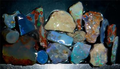 100 Cts #959 Opal Rough And Rough Rubs From Lightning Ridge Australia