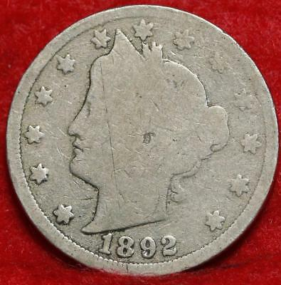 1892 Philadelphia Mint Liberty Nickel Free Shipping
