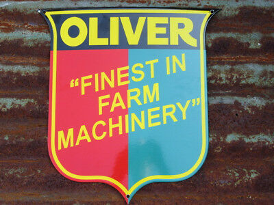 Oliver Finest in Farm Machinery Porcelain Sign