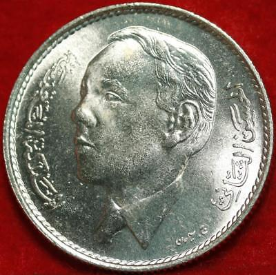 Uncirculated 1965 Morocco 5 Dirhams Silver Foreign Coin Free S/H