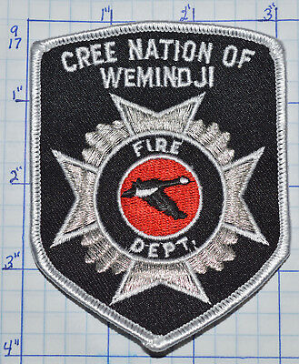 Canada, Cree Nation Of Wemindji Fire Dept Quebec Patch
