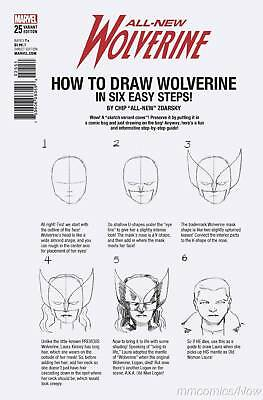 All New Wolverine #25 Zdarsky How To Draw Variant Legacy Marvel Comics X-Men