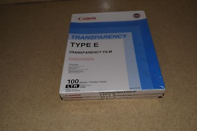^^ Canon Type E Transparency Film  8.5X11- 3 Packs (300 Sheets) New (P5)