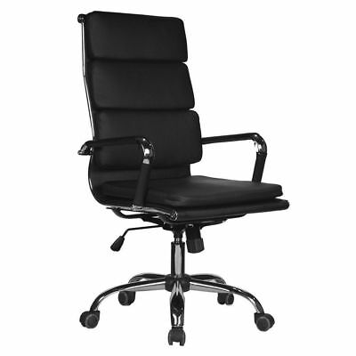PU Leather Executive Office Chair Swivel High Back Computer Desk Task Seat Black