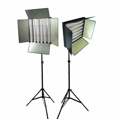 LS-Photo Studio 1650W Digital Light Fluroescent 6-Bank Barndoor Panel Kit