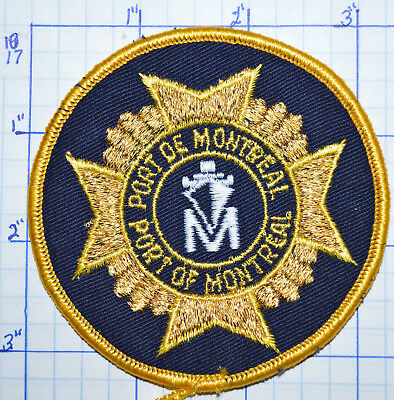 Canada, Port Of Montreal Fire Service Round Patch
